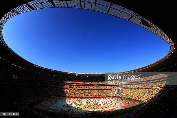 General view of atmosphere during the Opening Ceremony ahead of the 2010 FIFA World Cup South Africa Group A match between South Africa and Mexico at...