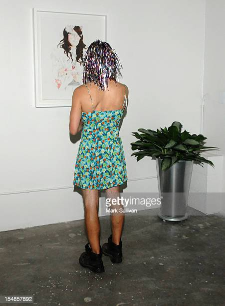 General view of atmosphere during the opening reception for Diane MarshallGreen's Lolitas at America Martin Gallery on October 27 2012 in Los Angeles...