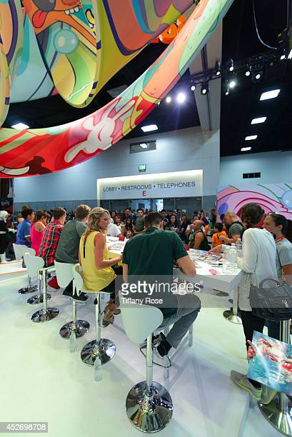 A general view of atmosphere during the Power Rangers signing at the 2014 San Diego ComicCon International Day 3 on July 25 2014 in San Diego...