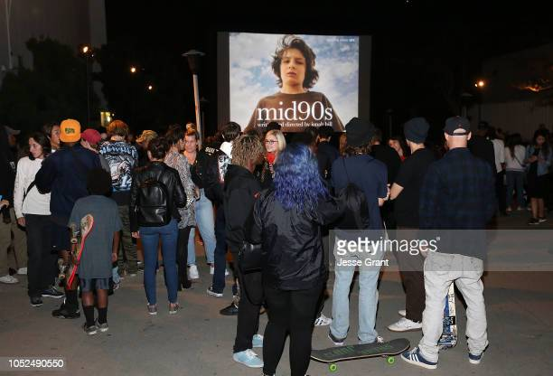 A general view of atmosphere during the premiere of A24's Mid90s at West LA Courthouse on October 18 2018 in Los Angeles California