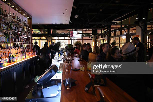 A general view of atmosphere during the premiere party for the cast of ABC's new sitcom MIXOLOGY at Mixology101 Planet Dailies on February 26 2014 in...