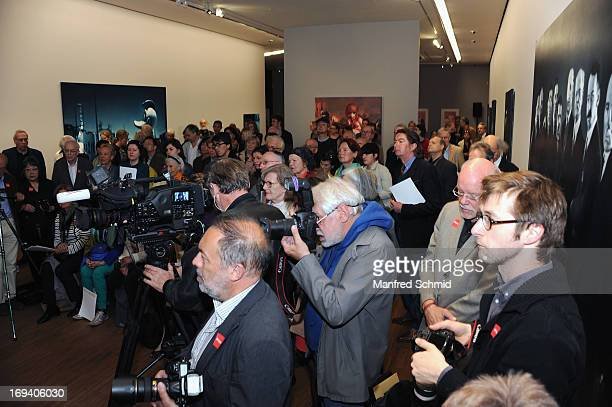 A general view of atmosphere during the press converence for Gottfried Helnwein Retrospective at Albertina on May 24 2013 in Vienna Austria