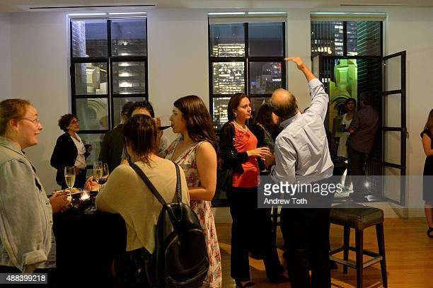 A general view of atmosphere during the private screening and QA for Showtime Documentary Films Prophet's Prey at Bryant Park Hotel on September 15...