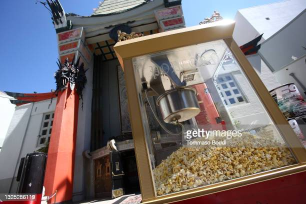 General view of atmosphere during the ribbon cutting for the re-opening of the TCL Chinese Theater forecourt at TCL Chinese Theatre on June 24, 2021...