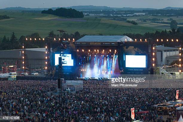A general view of atmosphere during the second day of 'Rock am Ring' on June 6 2015 in Mendig Germany
