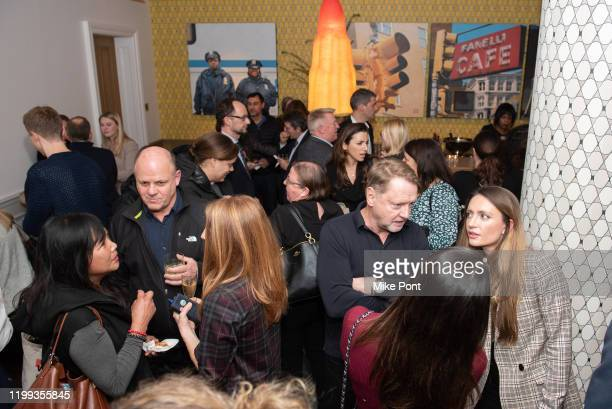 A general view of atmosphere during the Seven Worlds One Planet Screening at Crosby Hotel on January 13 2020 in New York City