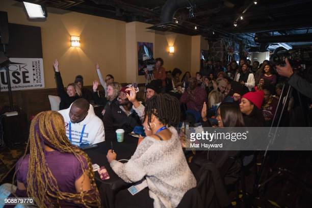 General view of atmosphere during the 'She's Gotta Have It' brunch sponsored by Netflix at Buona Vita on January 22 2018 in Park City Utah