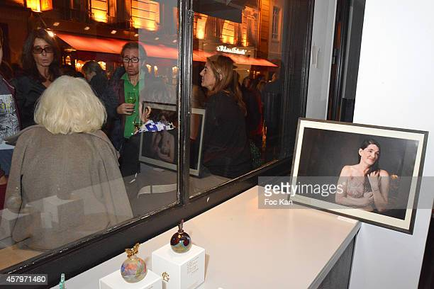 A general view of atmosphere during the 'Skin Fais Moi Ma Peau' Against Women Breast Cancer Auction Exhibition Preview At Galerie Catherine Houard...