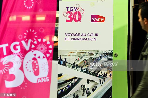 A general view of atmosphere during the SNCF presentation at Gare Montparnasse on April 7 2011 in Paris France French train company SNCF are...