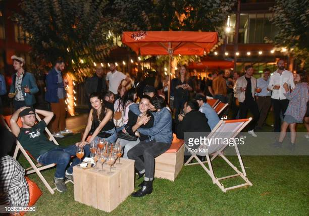 A general view of atmosphere during the Spritz Plazza Party at the 118 Warner on September 19 2018 in Paris France