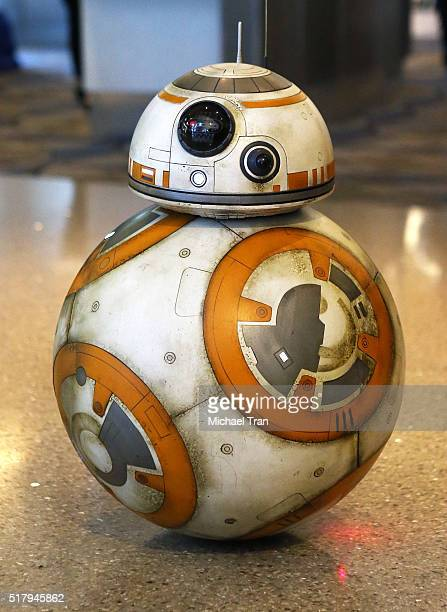 """General view of atmosphere during the """"Star Wars"""" BB-8 ANA Jet event held at LAX Airport on March 28, 2016 in Los Angeles, California."""