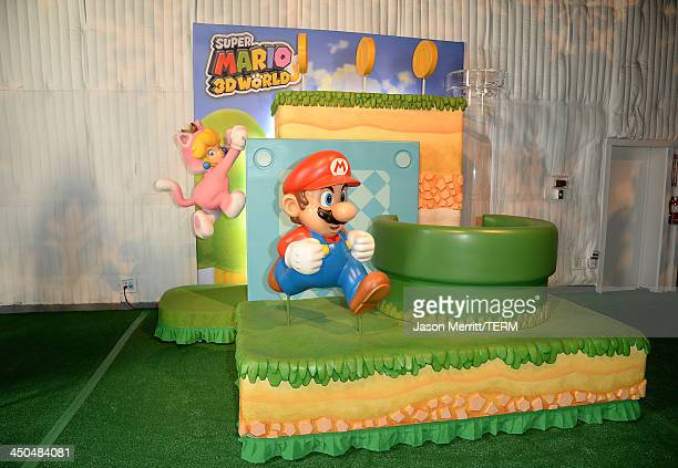 A general view of atmosphere during the Super Mario 3D World Happy HoliGames Spectacular event on November 17 2013 in Los Angeles California
