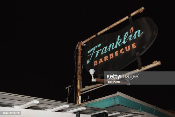 General view of atmosphere during the Texas Monthly BBQ Fest 'Franklin Friends' at Franklin Barbecue on November 3 2018 in Austin Texas