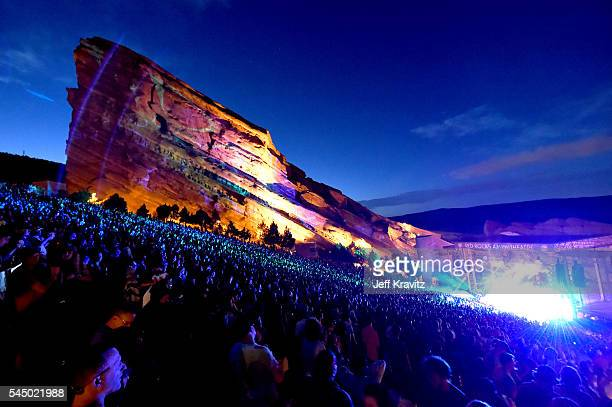 General view of atmosphere during the Umphrey's McGee performance at Red Rocks Amphitheatre on July 3 2016 in Morrison Colorado