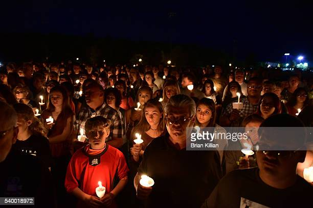 A general view of atmosphere during the Vigil For Christina Grimmie at Evesham Memorial Complex on June 13 2016 in Evesham New Jersey