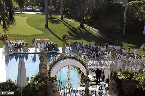 General view of atmosphere during the wedding of Ivana Trump and Rossano Rubicondi at the MaraLago Club on April 12 2008 in Palm Beach Florida