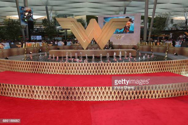 A general view of atmosphere during the 'Wonder Woman' Mexico City premiere at Parque Toreo on May 27 2017 in Mexico City Mexico