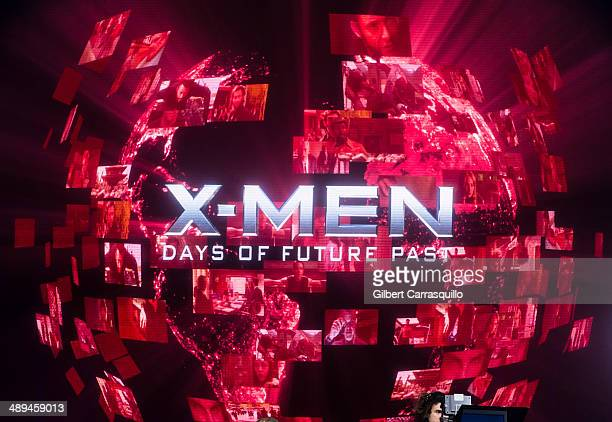 """General view of atmosphere during the """"X-Men: Days Of Future Past"""" world premiere at Jacob Javits Center on May 10, 2014 in New York City."""