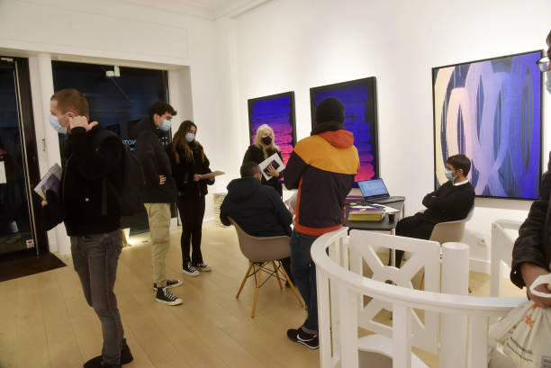 FRA: Franck Noto (Zest) : Exhibition And Performance Preview At Galerie Le Feuvre & Roze
