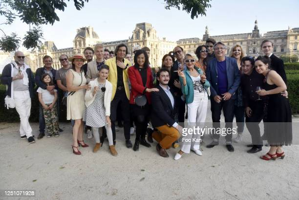 A general view of atmosphere during Valentin Cavaille de Nogaret Birthday Party at Jardin du Carrousel on June 20 2020 in Paris France