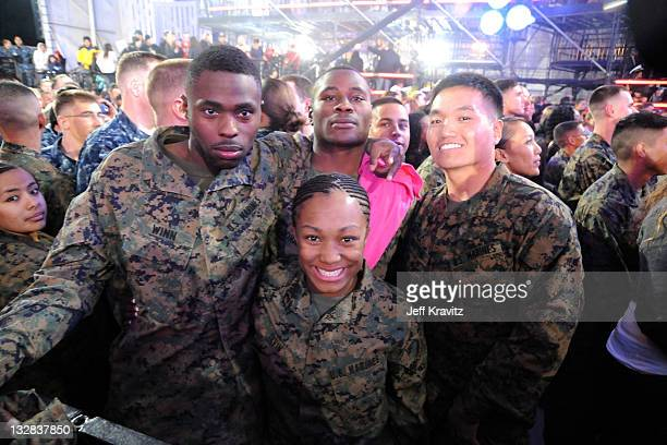 A general view of atmosphere during 'VH1 Divas Salute the Troops' presented by the USO at the MCAS Miramar on December 3 2010 in Miramar California...