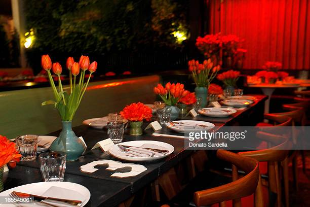 A general view of atmosphere during Vogue's Triple Threats dinner hosted by Sally Singer and Lisa Love at Goldie's on April 3 2013 in Los Angeles...