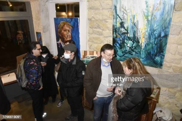 """General view of atmosphere during """"Voyages Au Pluriel"""" Preview at 24 Rue De Lappe on January 15, 2021 in Paris, France."""