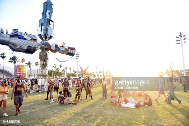 A general view of atmosphere during week 1 day 1 of the Coachella Valley Music And Arts Festival on April 13 2018 in Indio California
