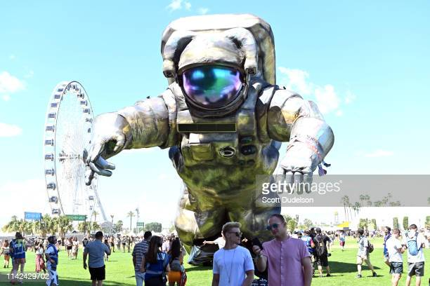 General view of atmosphere during Weekend 1, Day 1 of the 2019 Coachella Valley Music and Arts Festival on April 12, 2019 in Indio, California.