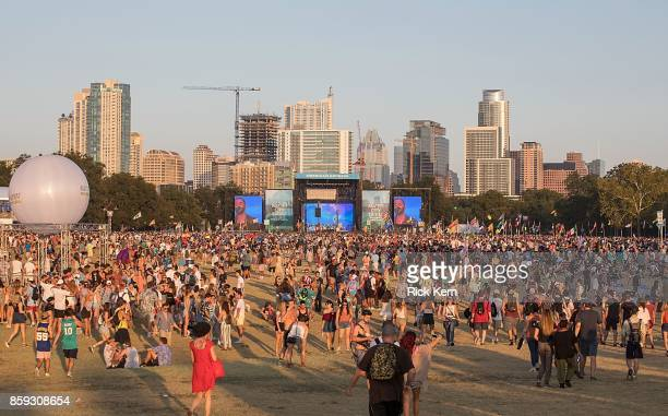 A general view of atmosphere during weekend one day three of Austin City Limits Music Festival at Zilker Park on October 8 2017 in Austin Texas