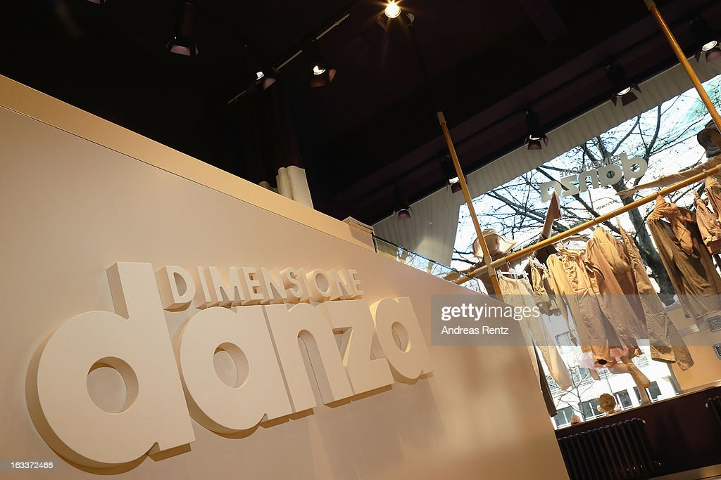 A general view of atmosphere is pictured at 'Dimensione Danza' - Berlin store opening on March 8, 2013 in Berlin, Germany.