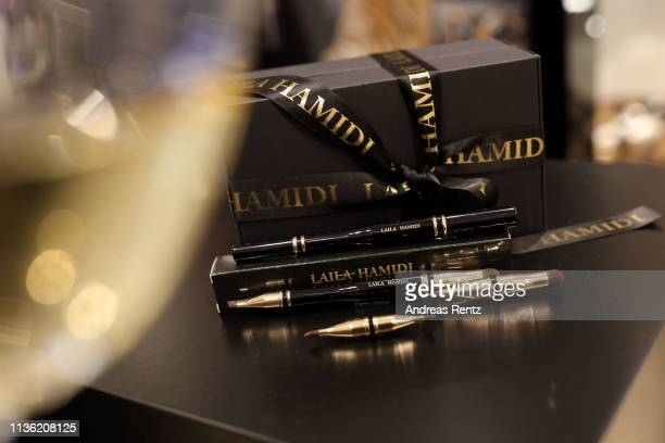General view of atmosphere is pictured during the 'Easy to pack brushes' launch by Laila Hamidi at Breuninger on March 16 2019 in Duesseldorf Germany