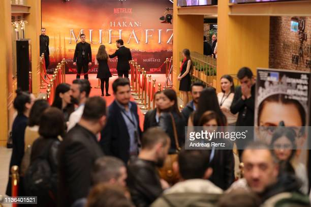 General view of atmosphere is pictured during the special screening for the second season of the Netflix series HAKAN : MUHAFIZ during the Istanbul...