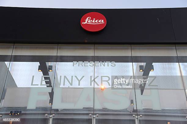 A general view of atmosphere is seen at 'Flash' by Lenny Kravitz presented by Leica at Leica Store LA on March 5 2015 in Los Angeles California