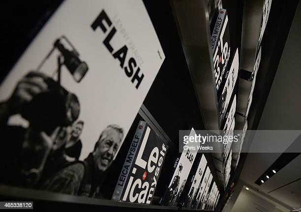 A general view of atmosphere is seen at Flash by Lenny Kravitz presented by Leica at Leica Store LA on March 5 2015 in Los Angeles California