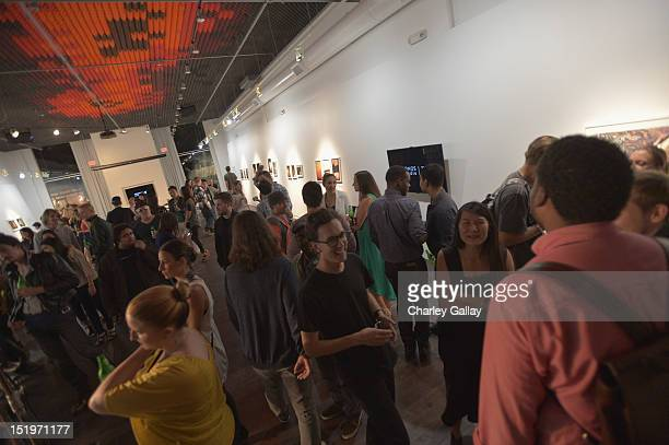 A general view of atmosphere is seen at Sonos And W launch the 'Cross Process' exhibition opening at Sonos Studio on September 13 2012 in Los Angeles...