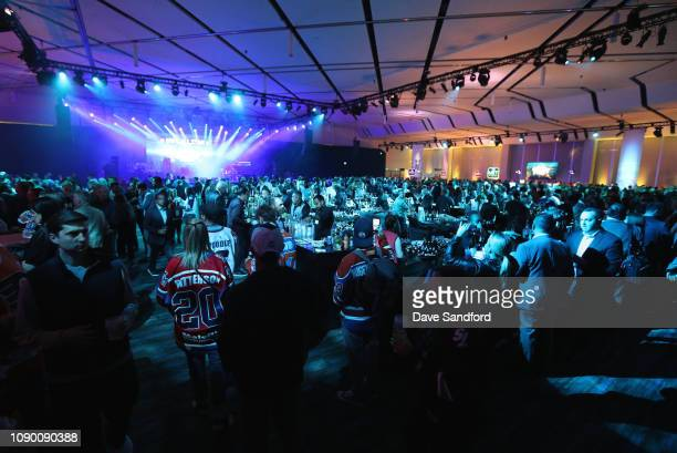 A general view of atmosphere is seen at the 2019 NHL AllStar Saturday Night Party at the San Jose Convention Center on January 26 2019 in San Jose...