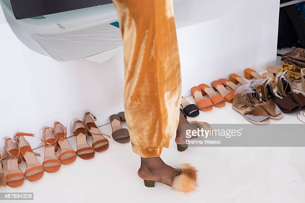 A general view of atmosphere is seen at the Brothers Vellies Presentation for Spring 2016 New York Fashion Week at Jack Studios on September 10 2015...