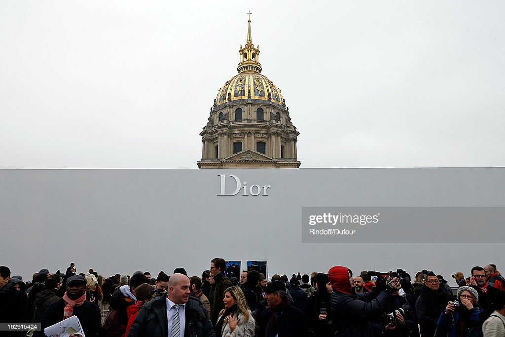 A general view of atmosphere is seen at the Christian Dior Fall/Winter 2013 Ready-to-Wear show as part of Paris Fashion Week on March 1, 2013 in Paris, France.