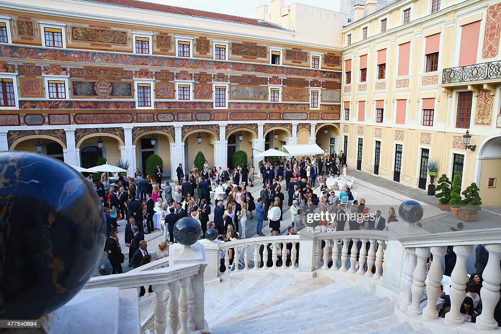 General view of atmosphere is seen at the Monaco Palace cocktail party of the 55th Monte Carlo TV festival on June 17, 2015 in Monte-Carlo, Monaco