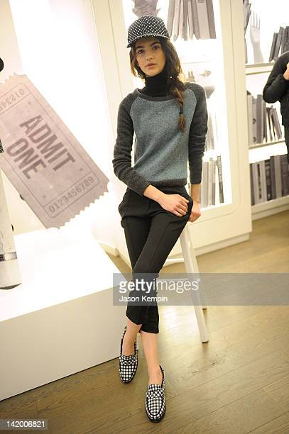 General view of atmosphere is seen at the Original Penguin Autumn/Winter 2012 Women's Collection fashion presentation on March 28, 2012 in New York...