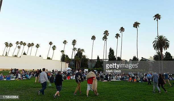 General view of atmosphere is seen at the Sundance Institute's Next Weekend Film Festival Kick-Off Party held at the Hollywood Forever Cemetery on...