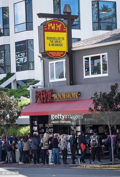 A general view of atmosphere is seen during a signing for James Franco's new book Straight James/Gay James at Book Soup on March 6 2016 in West...