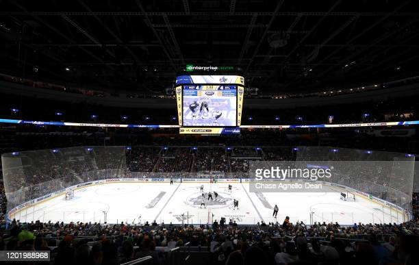 General view of atmosphere is seen during the 2020 NHL All-Star Game between the Metropolitan Division and Atlantic Division at the Enterprise Center...