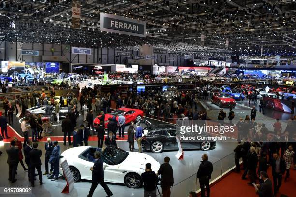A general view of atmosphere is seen during the 87th Geneva International Motor Show on March 8 2017 in Geneva Switzerland The International Motor...