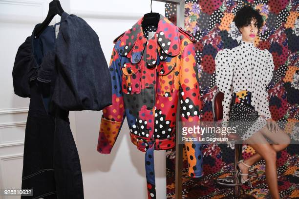 General view of atmosphere is seen during the Emanuel Ungaro presentation as part of the Paris Fashion Week Womenswear Fall/Winter 2018/2019 at...