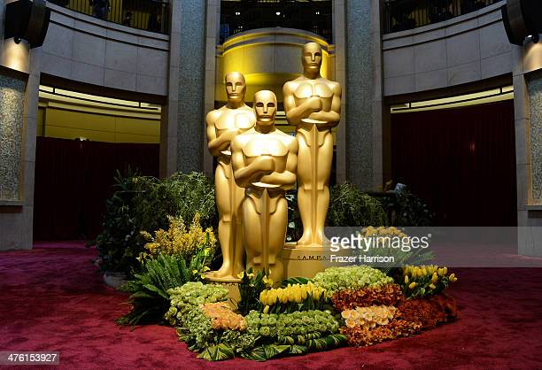 A general view of atmosphere is seen during the Oscars held at Hollywood Highland Center on March 2 2014 in Hollywood California