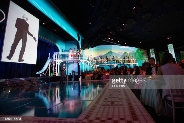 General view of atmosphere is seen during the Rose Ball 2019 on March 30 2019 in Monaco Monaco