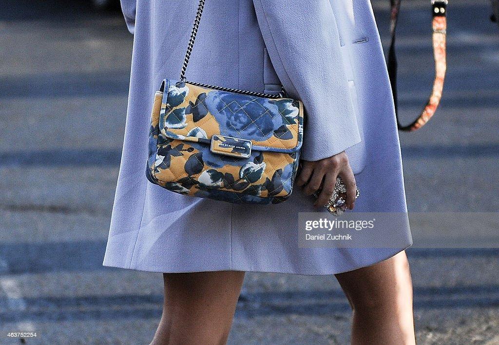Street Style - Day 7 - New York Fashion Week Fall 2015 : News Photo