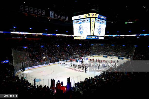 A general view of atmosphere is seen prior to the start of the 2020 NHL AllStar Skills competition at Enterprise Center on January 24 2020 in St...
